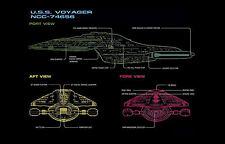Impression encadré-Star Trek modèle USS Voyager Vue de Port (Photo Poster art)
