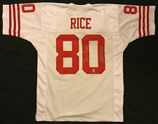 """Jerry Rice Signed San Francisco 49ers Jersey w/""""HOF 2010"""" Rice hologram"""