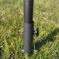 Bodenspieß Bodenhülse Metall Rasendorn Erdspieß für Sonnenschirm Wäschespinne