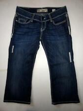 BuCKLe BKE STARLITE Stretch Capri Jeans Women's Stitched Denim Jeans 27