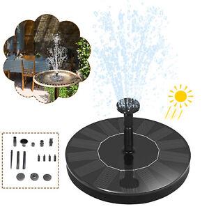 Solar Pumpe Springbrunnen Brunnen Wasserspiel Teichpumpe Garten Fontäne Teich DE