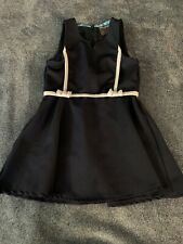 Girls Size 6 Eddie Bauer School Uniform Dress Navy Blue Euc