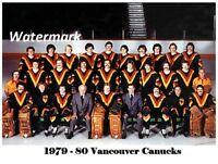 NHL 1979 - 80 Vancouver Canucks Color Team Picture  8 X 10 Photo Free Shipping