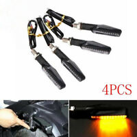 4x Universal LED Motorcycle Indicators Motorbike Turn Signals Light 12V Amber pw