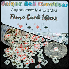 CLAY PLAYING CARD SLICES~CASINO NAILS~Nail•Acrylic•Gel•Body Art•Face•Festival