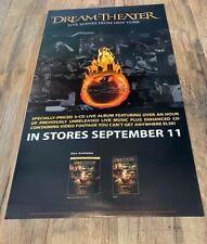 Dream Theater Live Scenes New York 2001 Elektra PROMO Poster 9/11 recall SCARCE