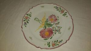 assiette decorative 24 cm céramique décor peint main renoleau France charente
