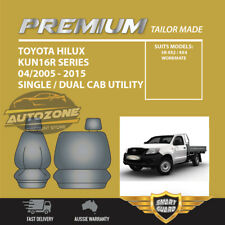 Premium Seat Covers for Toyota HILUX Single CAB Kun16r Series 04/2005 -2015 Grey