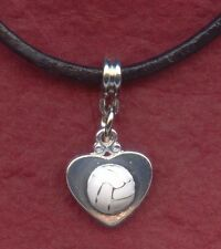 8 x Heart Netball Necklaces on leather one for all the team end of season gift