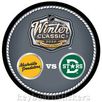 2020 NHL Winter Classic Dueling Hockey Puck Nashville Predators vs Dallas Stars