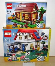 NEW SEALED LEGO 5771 5766 CREATOR HILLSIDE LOG CABIN HOUSE HOME 3 IN 1 BUILD