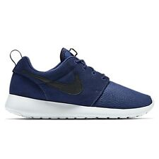 NIKE ROSHE ONE SUEDE Trainers Shoes Casual Gym - UK 7.5 (EUR 42) - Midnight Navy