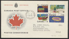 1970 #520/530 Christmas FDC, CP Presentation Cachet, Letter to South Africa