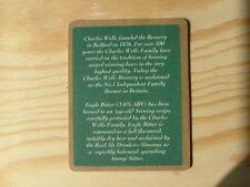 Beermat Coaster Charles Wells Eagle Draught Bitter BM487