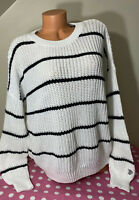 NWT Victorias Secret PINK Forenza Campus Crew Knitted Oversized Sweater Large
