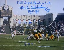 (1961-1969) GREEN BAY PACKERS- HERB ADDERLEY AUTOGRAPH 8x10 ACTION PHOTO SB 1