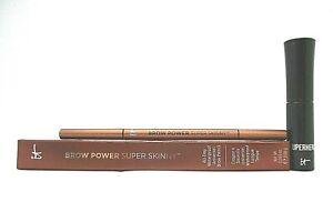 Set/2 It Cosmetic Brow Power Pencil / Superhero Mascara ~ Universal Auburn/Black