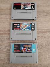 3x Super Nintendo SNES Spielesammlung  Schlümpfe , Disney , F-Zero