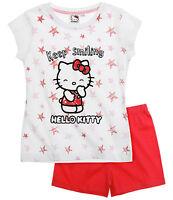 pyjama fille t-shirt manche courte ensemble short neuf officiel 2016 âge 2-12 An