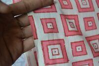 Sanganeri Hand Block Cotton Fabric By 2.5 Yard Indian Natural Craft Fabric Art`