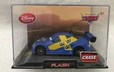 DISNEY STORE DIECAST CAR ~ FLASH ~  CHASE CAR ~ NEW IN ORIGINAL ACRYLIC CASE
