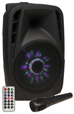 Hollywood Mobile Beschallungsanlage HOLLYWOOD ''MB-8 LED'' 300W, SD/USB, Bluetoo