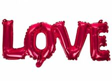 RED LOVE FOIL INFLATABLE BALLOON Text Letter love Balloon  Valentines Day Gift