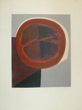 Piaubert Jean Lithographie originale signée Art Abstrait abstraction
