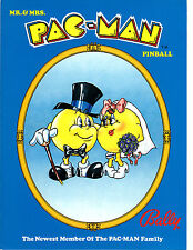 MR. & MRS. PAC-MAN Original PROMO Pinball Flyer BALLY 1981 Brochure Ad Slick