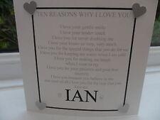 HANDMADE HUSBAND TO BE WEDDING CARD PERSONALISED ANNIVERSARY BIRTHDAY