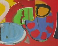 Martin Lanyon (St Ives School Cornwall) Abstract Gouache Painting - Playground