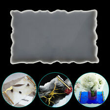 Silicone Tray Holder Table Mat Resin Casting Mold Coaster Epoxy Mould Tool DIY