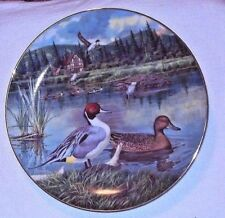 Decorative Plate 1986 The Pintail by Bart Jerner 1st Issue Living With Nature