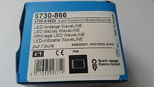 Busch-Jaeger 6730-866 LED-visualización Waveline acero inoxidable 6730-866 6730 -0-0023 New!