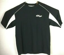 Tonix Kellogg's Tony the Tiger Baseball Sports Black White Shirt Sz Large #A067