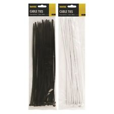 Nylon Cable Ties Plastic Zip Wire Extra Large Long 40 Pack Set Black 4 x 300mm