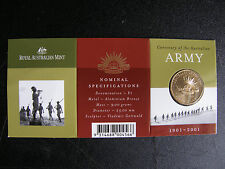 $1 2001 PNC 100 th Anniversary Australian Army,very rare S mint
