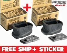Strike Industries 2 Glock 42 Magazine Base Plate Enhanced Extension +2 Round EMP