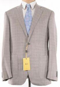 Canali KEI NWT Sport Coat Sz 42R In Light Tan Melange Wool/Silk/Linen $1,595