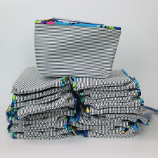Wholesale Lot of 36 X Estee Lauder White and Black Striped Cosmetic Makeup Bag