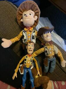 """NEW Disney Store WOODY PLUSH Doll - Toy Story - 12"""" And Figures"""