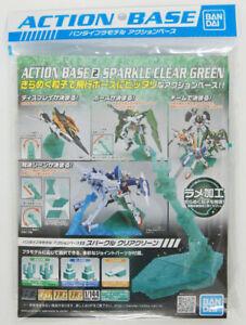 Bandai Hobby Gundam Action Base 2 Display Stand 1/144 Sparkle Green USA Seller