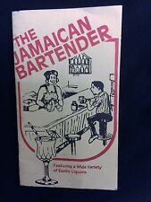THE JAMAICAN BARTENDER COCKTAIL DRINKS BOOK OF EXOTIC LIQUOR RECEPIES