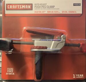 Craftsman Auto-Adjust Push Peg Clamp 49808 Brand New