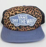 Vans Skateboarding Surf Mesh Leopard Print Snapback Trucker Baseball Hat Cap