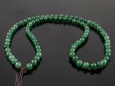 "Natural Burmese Green Jadeite Jade 6mm Stone Bead Necklace for Pendants 24"""