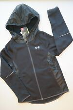 Under Armour Storm1 Jacket Water Resistant Black Full Zip Girl YMD 10/12 [a1820]