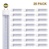 6-100 PACK G13 4FT T8 LED Tube Light LED Bulbs 24W 6000K CLEAR OR MILKY LENS