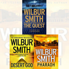 Ancient Egypt Collection By Wilbur Smith 3 Books Set Pharaoh,Desert God, New