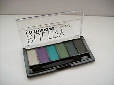 Sultry Eye Shadows 6pc by Technic - WHOOPLA - Silver, Purple, Green's & Black